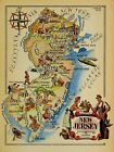 New Jersey Antique Vintage Pictorial Map