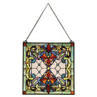 Victorian Ribbons Stained Glass Panel Hanging Window Suncatcher