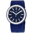 Swatch New POP Navypop Navy Dial Silicone Strap Unisex Watch PNN103