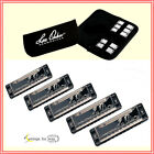 Lee Oskar by Tombo Major Harmonica 5 Pack with Free Case Keys ACDE and G