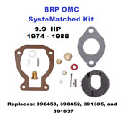 BRP OMC SysteMatched Johnson Evinrude 99 HP Carburetor Carb Kit 1974 1988