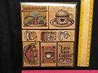 Hero Art Rubber Stamps Set of 8 LL356 Lets Have Coffee Muffins Cups Kettle Bean