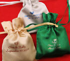 50 personalized satin bags wedding favors bridal shower treat bags custom made