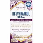 RESERVEAGE RESVERATROL 500MG 60 VEG CAPS 4 HOUR SUSTAINED RELEASE Ex 11 2018 NEW