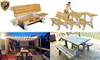 Patio Bench Table Outdoor Folding Park Chair Garden Yard Camping Wood Furniture