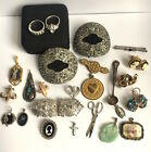 Antique Victorian Art Deco Vintage Jewelry Lot Sterling Silver Gold Fill