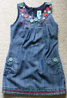Pumpkin Patch Girls Size 5 Dark Wash Denim Jean Jumper Overall Dress EUC