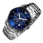 New EMPORIO ARMANI AR5860 CHRONOGRAPH MEN'S Watch Blue Dial Mens Watch Stainless