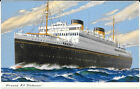 SHIP POSTCARD: THE LAST WHITE STAR LINER CUNARD M.V. BRITANNIC IN WATERS B 1380