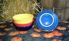 SET 4 14OZ CEREAL BOWL scarlet sunflower lapis cobalt FIESTA WARE NEW