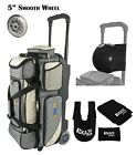 KAZE SPORTS Deluxe 3 Ball Bowling Roller Bag Smooth Wheel Joey Add On Spare Tote