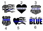 Back The Blue Decals Blue Lives Matter Decal Sticker ALL DECALS BUY 2 GET 1 FREE
