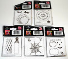 Lot of 5 NEW See Ds HALLOWEEN Lil Rubber Stamps Skeleton Spider Web Pumpkin