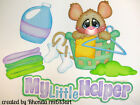 Mouse Lil Helper paper piecing set for premade scrapbook page Rhonda rm613art