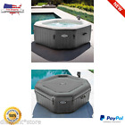 Inflatable Spa Portable Hot Tub Heated 120 Bubble Jets 4 Person Jacuzzi Massage