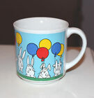 Sandra Boynton BUNNY with Balloons Rabbit Bunnies Party Time Coffee Mug