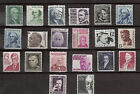 US 1965 1981 Prominent Americans Sc 1278 Sc 1295 Mint NH 20 Stamps