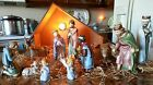 12pc VINTAGE  GOEBEL  Hummel Nativity with STABLE and Light