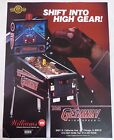 1992 Williams The Getaway High Speed II Pinball Machine Flyer/Brochure Original