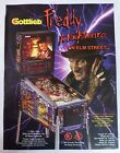 1994 Gottlieb Freddy Nightmare On Elm St Pinball Machine Flyer/Brochure Original