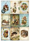 9 Alice in Wonderland Hang Tags Scrapbooking Paper Crafts 344