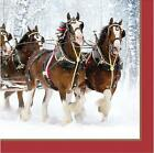 Clydesdales Horses Animal Winter Christmas Holiday Party Paper Luncheon Napkins