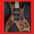 BC Rich Bich Custom Made Painted With Real Blood Birdseye Maple Neck 1 of a kind