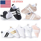 Baby Boys Girl Unisex Kids Crib Shoes 0 18M Infant Toddler Trainer Lace Up Shoes