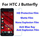 3pcs For HTC J Butterfly Matte Nano Explosion Best Touch Screen Film