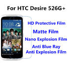 3pcs For HTC Desire 526G+ Matte Nano Explosion Best Touch Screen Protector