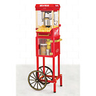 Old Fashioned Popcorn Cart Machine Theater Maker Popper Wheels Carts Movie