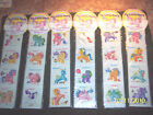 MY LITTLE PONY STICKERS SCRATCH  SNIFF 6 SHEETS SETVINTAGE RARE 1984HASBRO