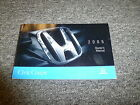 2005 Honda Civic Coupe Owner Owner's Manual User Guide EX HX LX SE Si 1.7L 2.0L