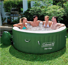 Coleman Lazy Spa Inflatable Heated Hot Tub with Bubble Jets Ultimate Durability