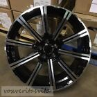 20 BLACK MACHINE FACE PRESTIGE STYLE WHEELS RIMS FITS 2017+ AUDI Q7