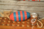 Striped Fishing Float in Blue and Red