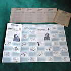 RARE NOS 1960 TRIUMPH TIGRESS SCOOTER DEALER SERVICE CHARTS 5 POSTERS MOTORCYCLE