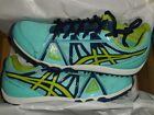 Asics Hyper Rocket Girl XC Track Cross Country ARUBA BLUE NEON Wos SZ 85