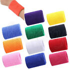 2x Sports Basketball Tennis Badminton Unisex Cotton Sweatband Wristband Arm Band