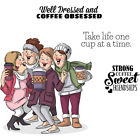 Art Impressions Girlfriends Cling Rubber Stamps 10X45 Latte Love