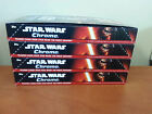 2016 Topps Chrome Star Wars THE FORCE AWAKENS Hobby Box Lot of 4 Boxes No Hits
