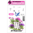 Art Impressions WC4868 Watercolor Cling Rubber Stamps 4X7 Flower 2