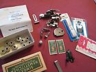 SINGER HEMSTITCHER WITH PLATE BOX INSTRUCTIONS + OTHER PARTS BOBBINS 1940S