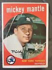 1959 Topps Mickey Mantle Baseball Card #10