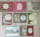 8 Handmade Snowmen ChristmasCards with envelopeStampin + Combined Shipping