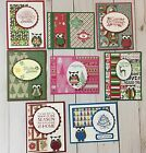 8 Handmade Owl Christmas Cards Stampin Up+Combine You Shipping