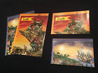 LEGO FOLD OUT POSTERS PIRATE X2 CASTLE X2