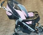 Peg Perego Pliko P3 Stroller  Beautiful pink / black clean Exc. Condition