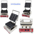 Egg Tarte Pie Waffle Machine Maker Automatic Commercial Dessert 9 Round Shell