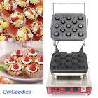 Egg Tarte Pie Waffle Machine Maker Automatic Commercial Dessert 13 Round Shell